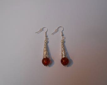 Earrings - elegant and transparency in ivory and chocolate