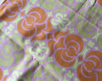 Amy Butler Midwest Modern Pink & Tangerine Wallpaper Flowers Fat Quarter Quilt Fabric Sewing Fabric Retro Fabric