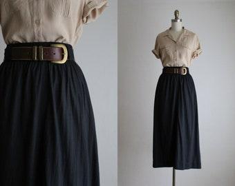 ash black maxi skirt