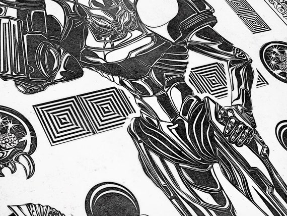 Line Quality In Art : Metroid samus aran line art signed museum quality giclée
