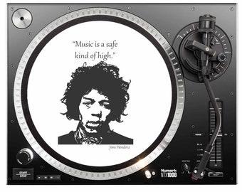 Slipmat - Jimi Hendrix -  Slip Mat Turntable - Jimi Hendrix Slipmat - Jimi Hendrix Print - Jimi Hendrix Original Print - Jimi Hendrix Quote