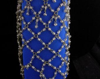 Antique Glass Snood - Hair cover - beaded snood - bun cover - vintage czech glass bead net - hair accessory -renaissance accessory