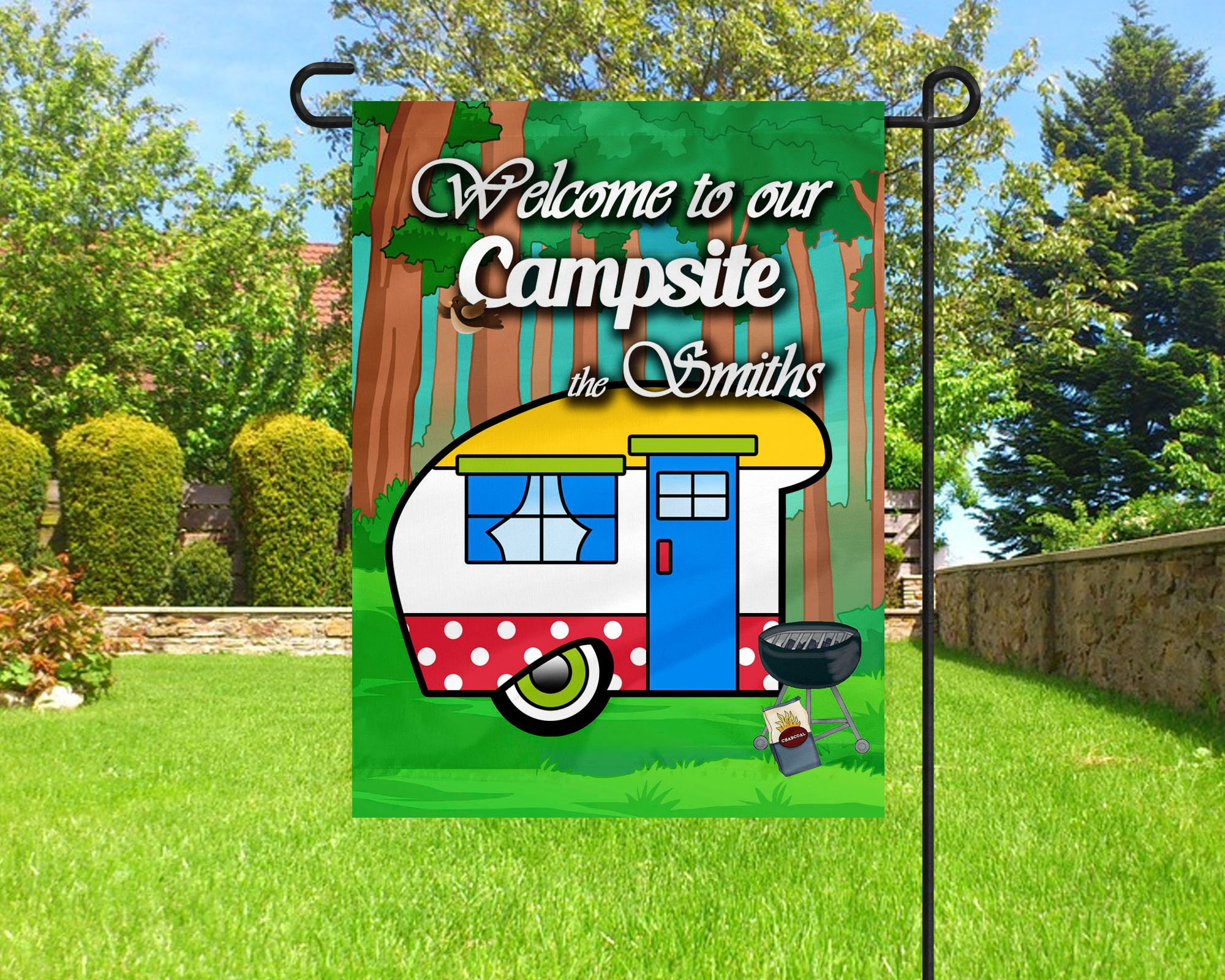 Personalized Camping Flag Garden Flag Flag Camping Decor