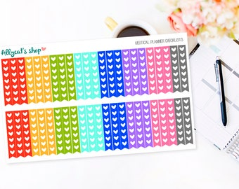 Vertical Planner Heart Checklists - Erin Condren Life Planner