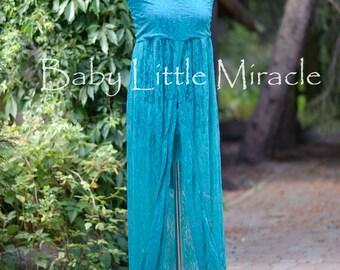 Pamela Green Lace Maternity Dress, Maternity Gown, Maternity Photo Props, Photography, Maternity Gown Props,baby shower