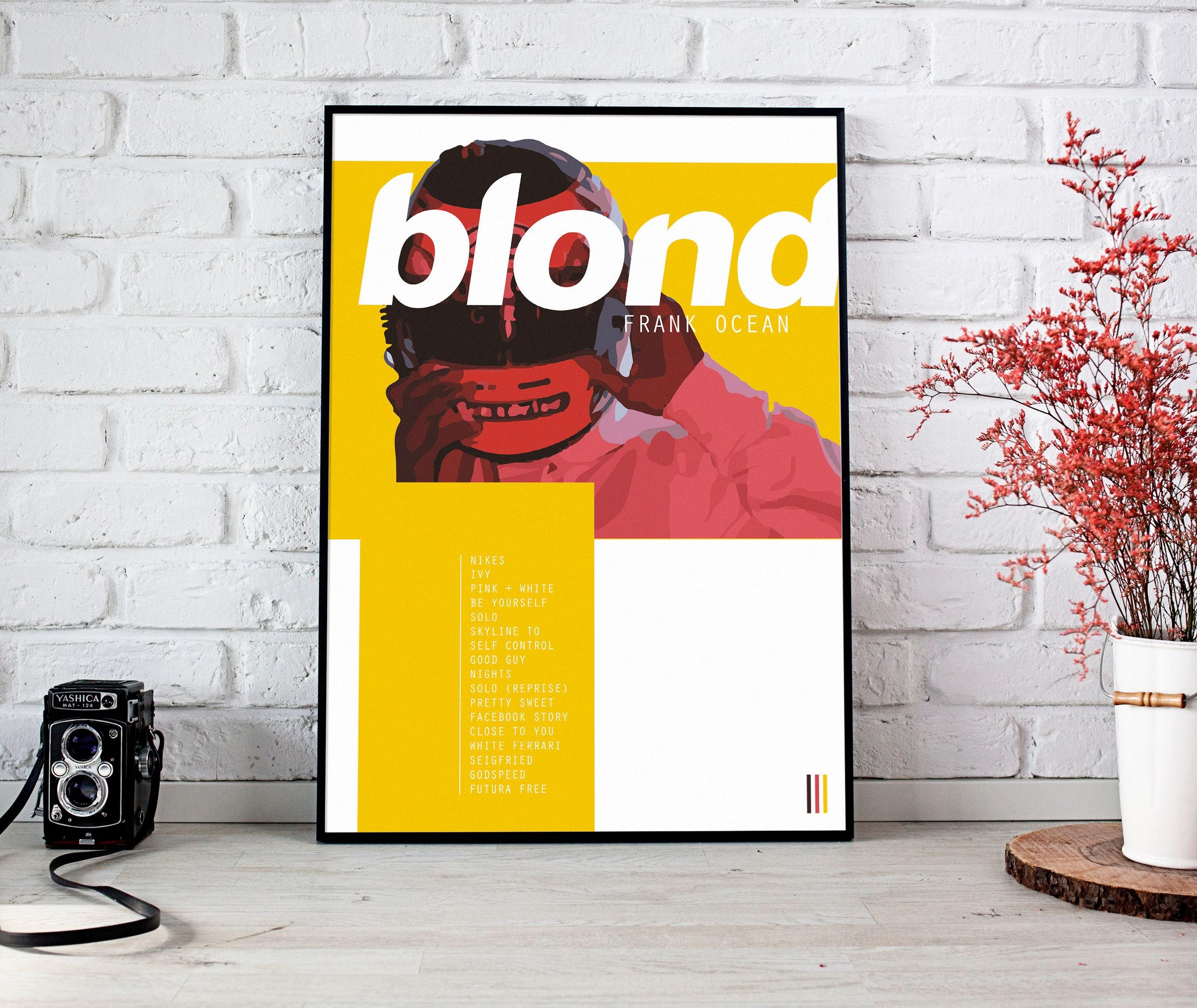 Frank ocean blonde poster frank ocean album art blonde