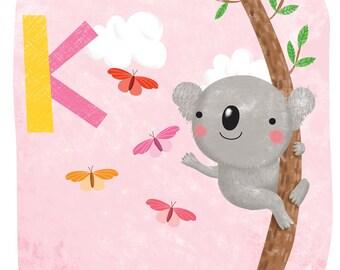Koala - Square print
