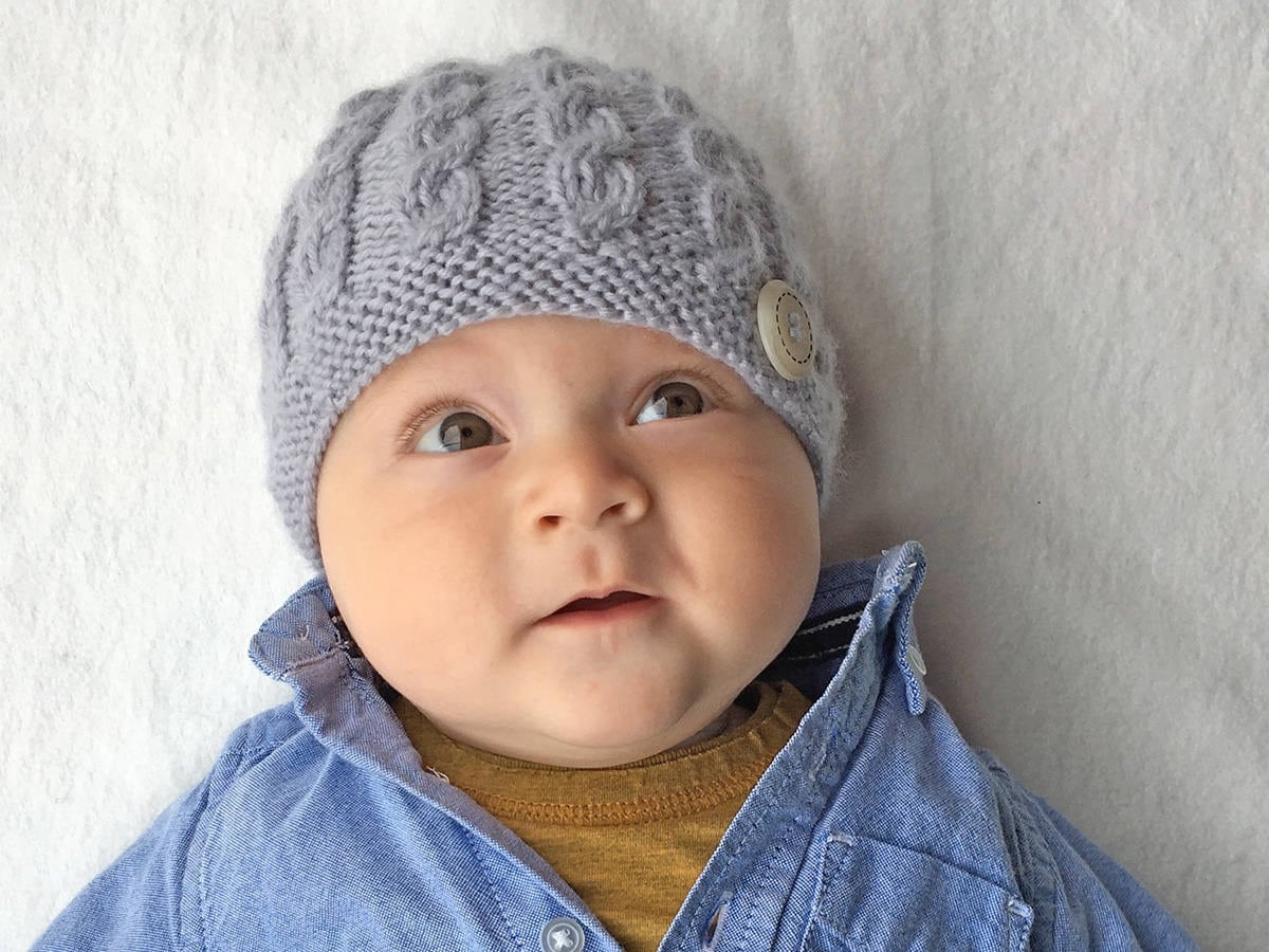 Baby Hat Knitting Pattern, Baby Beanie PDF Pattern, Knit Hat Pattern ...