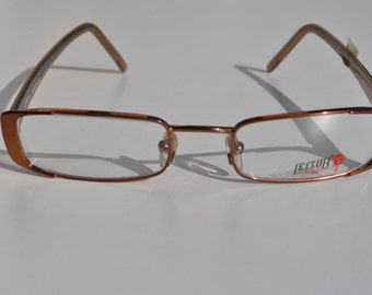 elegant vintage LE CLUB ACTIF 49-19 140 1884  bronze rectangle eye / sunglasses frame made in Italy New