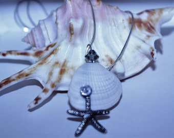 Mermaid collection, starfish, shell jewelry with Swavorski Crystal