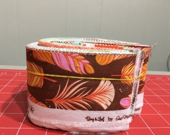 Moda Quilt Fabric Scrap Bags - WING AND LEAF By Gina Martin - Over 1/2 Lb of Fabric