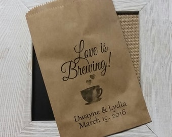 Love is Brewing FAVOR BAG