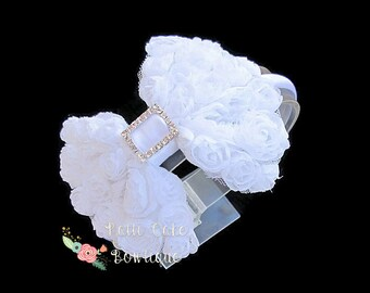 White Bow Headband/First Communion Headband/Head Bands for Girls/Hair Band Toddler/White Headband/Girls Headbands/Hairbows on Headbands