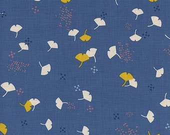 Cotton and Steel Gingko Lilac by the Half Yard