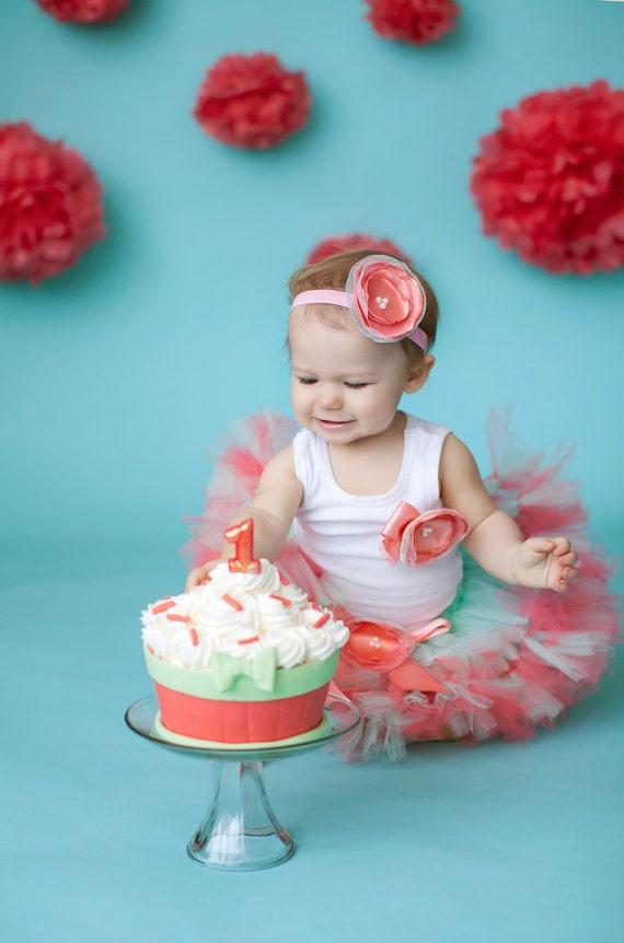 Cake Smash Tutu Dress 1st Birthday Baby Dress Strawberrie