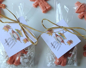 10 Scarecrow Favors, 20 Soaps, Birthdays, Special Occasion Party Favors