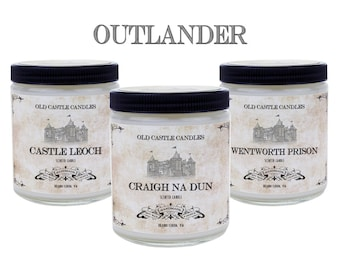 Outlander Book Candle Set, Handmade 3 x 4oz Candles, Literary Gift, Personalized Gift