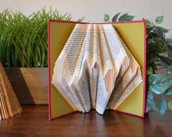 Book Art - Folded Book - Undulations - William Faulkner - Vintage - Upcycled