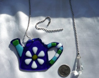 Fused Glass Fan Pulls with additional Piece