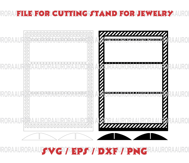 Vektor Ohrring Halter Schmuck Displays SVG für Laser CNC-Datei
