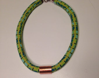 Green and Gold multi rope necklace