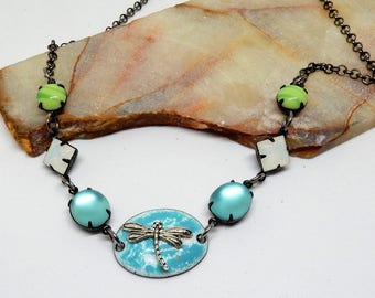 Dragonfly Necklace, Silver Dragonfly, Dragonfly Jewelry