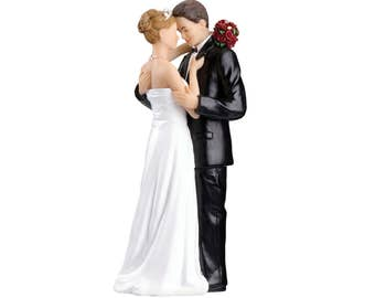 Wedding Cake Top, Bride and Groom Cake Topper, Romantic Wedding Cake Topper