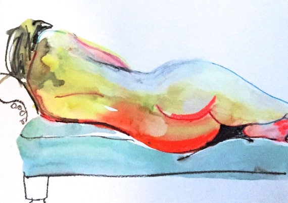 Nude painting- #1494 -original  by Gretchen Kelly