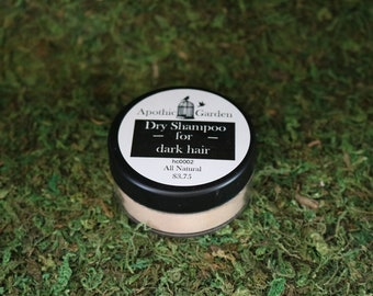Dry Shampoo for Dark Hair All Natural by Apothic Garden