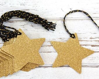 Star Gift Tags - Set of 10 - Christmas gift tags, glitter gift tags