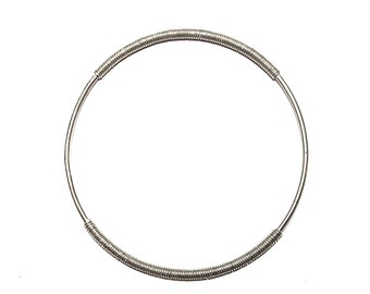 Serpentine Half Coil Bangle | Sterling Silver | Ready to Ship