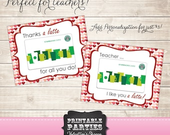 Latte Valentines - INSTANT DOWNLOAD - Perfect for Teachers!
