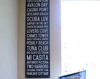 Catalina Island Subway Canvas Banner