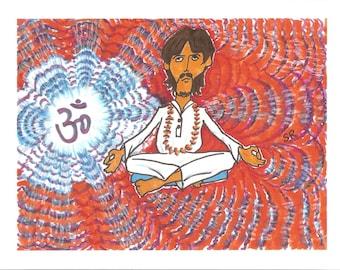Inner Light, George Cartoon, Meditation, OM
