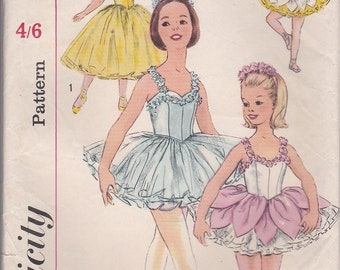 1960's Sewing Pattern - Simplicity S 161 Children's Ballet Costume, Size 10,   UnCut, Factory Folded