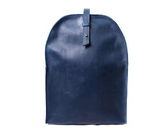 Bookbag, rucksack, leather backpack bag, everyday backpack, handmade rucksack, minimalist backpack, simple backpack, leather rucksack, blue
