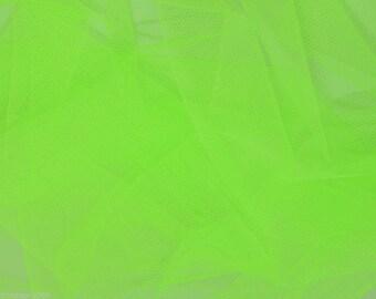 Tulle Netting Dress Fabric 140cm Wide 30 Colour Range - Flo Green