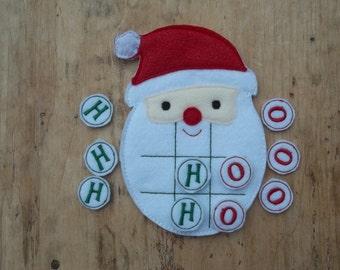 Santa's Beard :Christmas Tic Tac Toe Game  Christmas Game . Party Favor. Gift. Stocking Stuffe