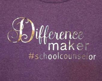 School Counselor T-shirt - customizable