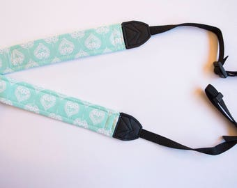 Mint Green Medallion DSLR Camera Strap