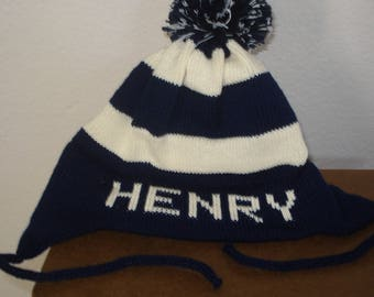 Personalized Henry flap hat