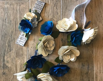 Customizable Paper Flower Lei, Book Rose Lei