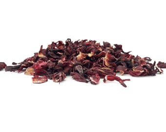 Dried Hibiscus Flowers - Biodegradable, Tea, Tea Making, Tincture, Infusion, Craft Supplies - Natural