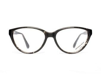 black cateye glasses - vintage black eyeglasses for women - marbled transparent pattern cat eye - 50s style - true vintage - Antonio Miro