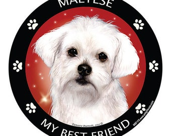 Maltese My Best Friend Dog Magnet