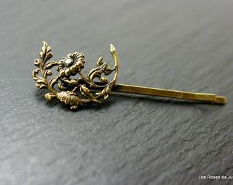 hair clip, art deco, flowers accessory hair, monk