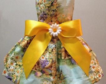 Easter Bunny Garden Dog Dress