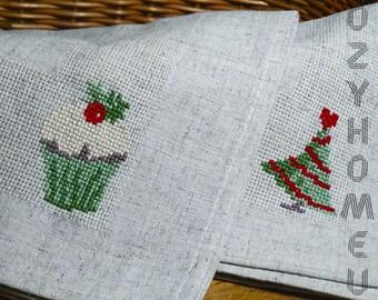 New year holiday decor christmas decor napkins set linens napkins vintage napkins table napkins plate decor napkins cloth dinner napkins