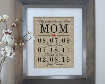 Mother of the Bride Gift Personalized Gifts for Mom from Daughter Mom Gift from Kids Mother of the Groom Gift Family Sign Gift Idea