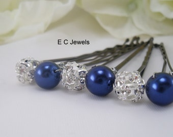 Something Blue Pearls and Elegance Hairpins